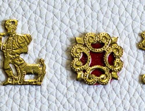 Verzierung Appenzeller Halsband, gold