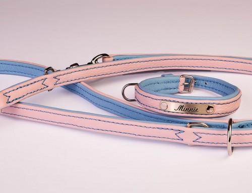 "Halsband/Leine ""Minnie"" rosa/blau"